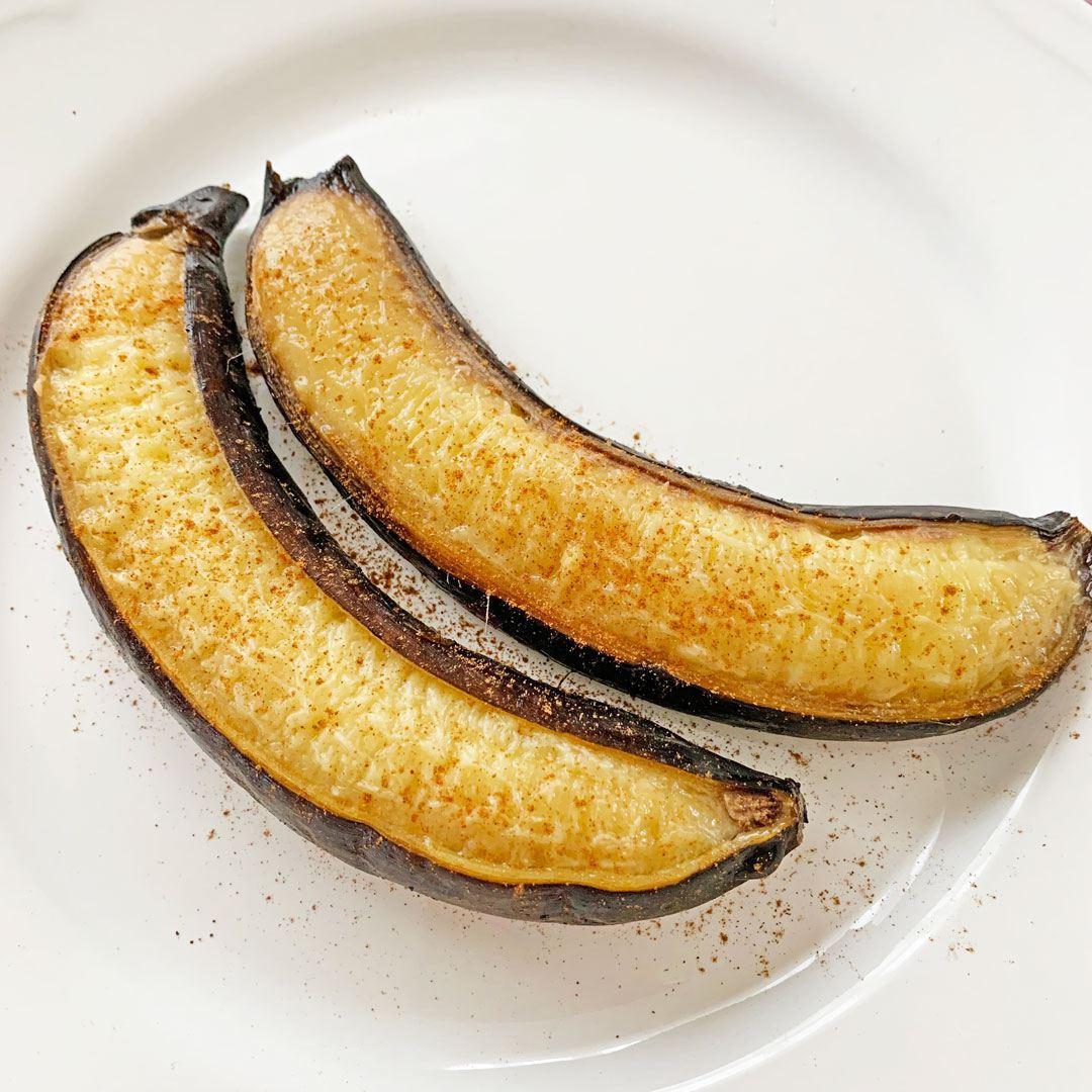 シュラスコの焼きバナナ
