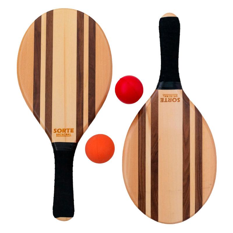 フレスコボールラケットセットLeblon【SORTE ORIGINAL】屋外・屋内ボール2個セット&専用トートバッグ付き